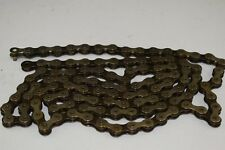 SACHS COMMANDER Bicycle Chain 112 link 5-7speed light gold/black GERMANY NOS