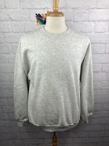 NWT Vintage Deadstock Jerzees GRAY Blank Sweatshirt Large L Made In USA