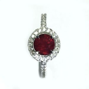 925 Sterling Silver Rhodium Plated Ring with 1.03 Carats|Natural Spinel