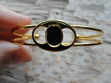 Hamilton Gold Open Cuff  Bracelet  8x10mm Vertical  Glue On 0947 (pkg 3)
