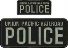 UNION PACIFIC RAILROAD POLICE embroidery patch 4x10 and 2x5 hook  on back