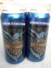 RARE Harley-Davidson 115th Anniversary 4 Pack Beer Cans