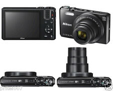 NUOVO * NIKON COOLPIX S7000 - 16 MP Fotocamera Digitale WiFi Nero 1080 HD Video Record