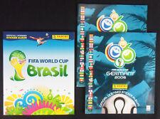 3 FIFA World Cup Fußball Weltmeisterschaft 2006 + 2014 Sammelbi Panini Leeralben