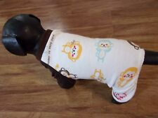 "dog pajamas,cozy cotton, ""monkey is very cute"",XS**(read details for size)"