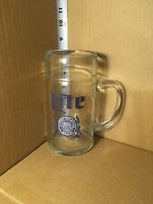 "Large 8"" Tall Miller Lite Fine Pilsner Beer Glass Mug Handle Cup Stein Bar Wheat"