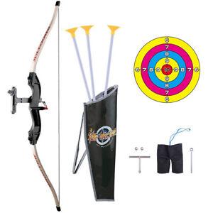 Bow and Arrow Set Garden Kids Archery Hunting Shooting Kit Indoor Outdoor Toy UK