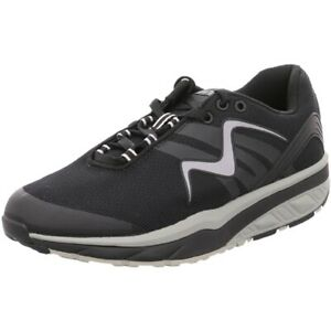 MBT Leasha Trail Lace up, Woman, Sneakers Casual, scarpe donna Black/Silver Tela