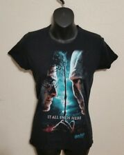 "Harry Potter Voldemort Deathly Hallows ""IT ALL ENDS HERE"" Black Shirt Small"