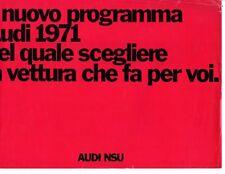 Audi NSU 100 Coupe S 100S LS 60 75 Variant Super 90 Brochure 1970 Italian