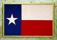 "Texas Alamo Framed Barnwood Flag 20/""x38/"""