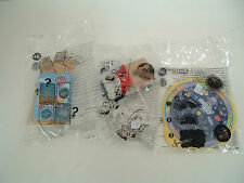 burger king kids meal 3 toy lot NOS crown cards jurassic park discovery kids