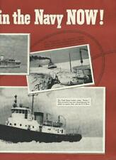 1942 WWII GM Diesel Motor 2 page Ad / Coast Guard Boats/Roosevelt