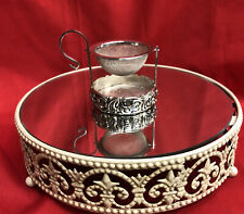 """Tea Strainer with Swinging Basket Stand Silver Plate """"A Special Place"""" 1999"""
