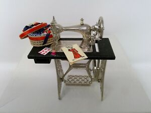 OOAK Dollhouse Miniature Sewing Machine with Sewing Accents 1:12 Scale