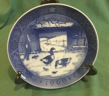"Royal Copenhagen Plate, ""In The Old Farm Yard� 1969, Denmark, Kl, 7 Inches,"