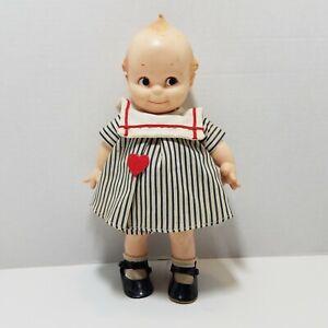 """Vtg Jesco 11"""" Cameo Vinyl Kewpie Doll Girl In Sailor Dress W/ Shoes Socks Cupie"""