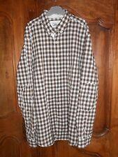chemise manches longues LACOSTE vichy marron taille 41 - neuve