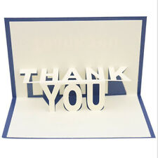 Stereoscopic Greeting Cards 3D Thank You Birthday Festival Invitaiton Card D
