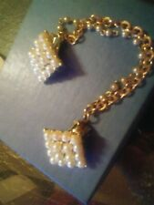 Doris Day Personally Owned & Worn Costume Pearl & Gold Sweater Clip W/LOA