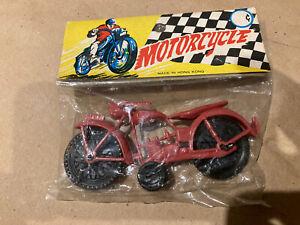 Vintage Plastic Toy Motorcycle w/ Original Package Harley Davidson Indian ?
