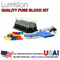 6 Port Way Fuse Block Lumision Kit Ready to Install Automotive Car Boat Marine