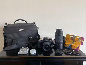 Nikon Bundle N80 Camera With Af Nikkor 70-300mm 1:4-5.6g & 28-80mm 1:3.3-5.6 G