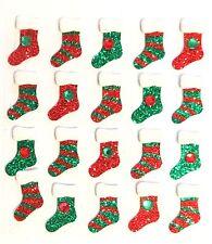 Christmas Stocking Repeats Glitter Jewels Red Green Jolee's 3D Sticker