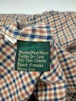 Orvis Mens L Flannel Shirt Blue Plaid Long Sleeve Button UP Cotton Pocket EUC