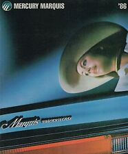 1986 Mercury MARQUIS Brochure / Catalog: Brougham,Station Wagon