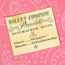 Vintage Skipper Barbie Accessories 1905 Ballet Lesson Paper Program 1965 GUC