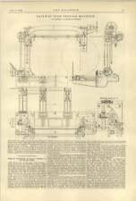 Máquina para ensayos de neumáticos ferroviaria 1888 banderali la Chapelle