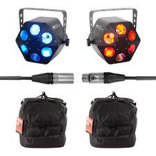 2x ADJ QUAD PHASE HP Lumière DEL Inc. Sacs de transport et DMX Câble (Bundle)