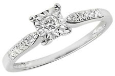 Diamond Solitaire Ring Certificate Appraisal White Gold  Large Sizes R - Z