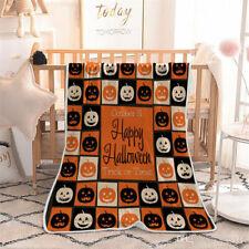 Happy Halloween Quilt Blanket, Jack O Lantern Quilt Blanket, Halloween Gift