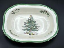 "SPODE Christmas Tree S3324-K England 9"" Oval Vegetable Bowl - 3 Available!"