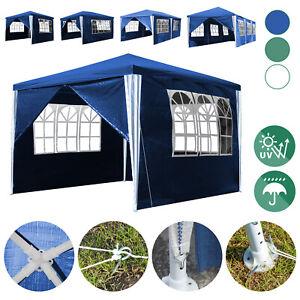Pavillon Messestand 3x3-3x9m Camping Wasserdicht Stabil Festzelt Partyzelt