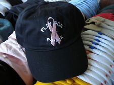 (^) PLAY FOR PINK RIBBON GOLF TENNIS OUTDOOR BLACK HAT *NEW*