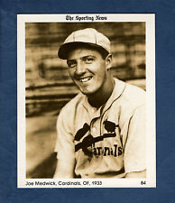 #84 Joe Medwick, 1933 Cardinals ~ 1981 The Sporting News Conlon Collection Ex