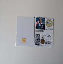 CSF Blank PVC 4428 Chip Plastic Photo ID Inkjet Card 30 Mil White Lots of 30