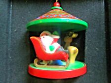 1980Hallmark Santa Reindeer Carousel Tree Trimmer Collection Christmas Ornament