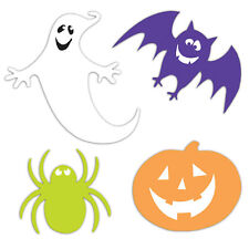 30 Piece Assortment Halloween Ghosts Bats Spider Pumpkins Cutout Decorations