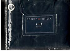 Tommy Hilfiger Classics Chino Navy Blue King Bed Skirt Nautical Grommets New