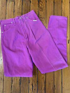 Vintage USA WRANGLER 17MWZCB Pleat High Waist Mom Denim Fade Pink JEANS 7/8 X 34