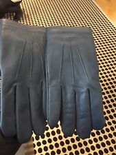 COACH MENS' NEW LEATHER TECH GLOVES F54182 IN SIZE LARGE Denim