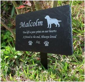 Personalised Engraved Pet Memorial Slate Stone Headstone Grave Marker Plaque