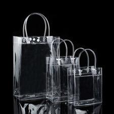 Bag Purse Tote Transparent Clear  Press Button Shoulder Handbag PVC Gift Bag