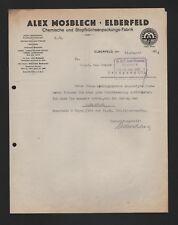 ELBERFELD, Brief 1926, Alex Mosblech Chemische und Stopfbüchsenpackungs-Fabrik