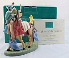 """WDCC """"Spring Cleaning"""" Deer with Chipmunk from Disney's Snow White in Box COA"""