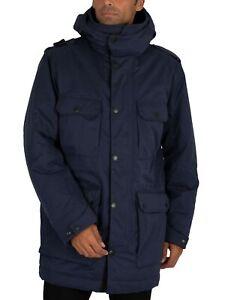 MA.STRUM Men's Parka Jacket, Blue